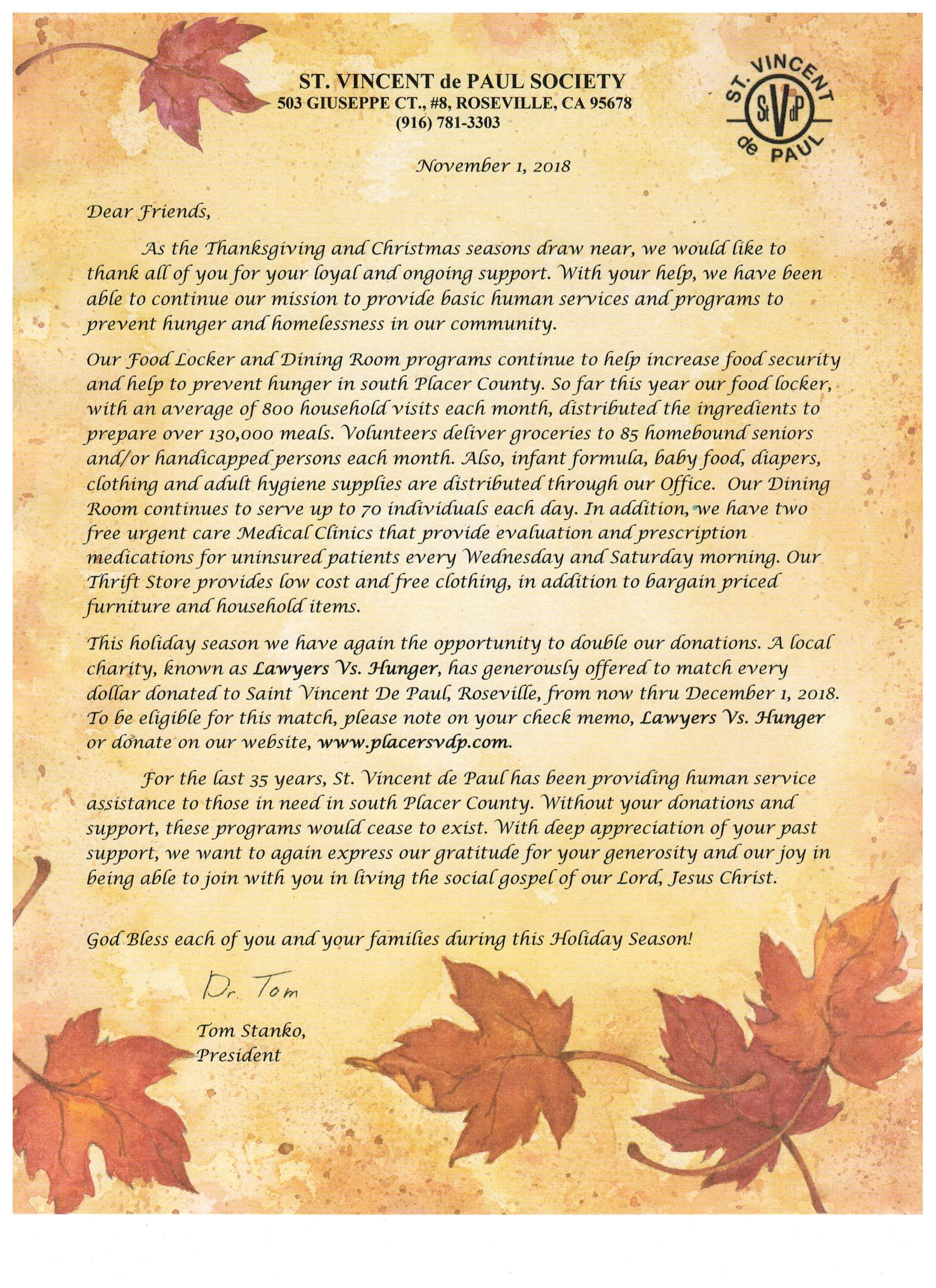 HOLIDAY LETTER PDF